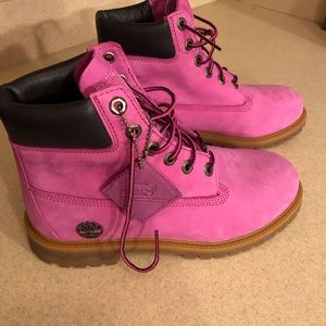 New pink Timberlands limited edition